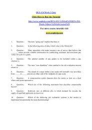 BUS 434 Week 3 Quiz/uophelp