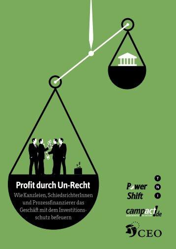 Profit durch Un-Recht