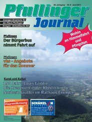 Journal Ausgabe Juni 2011.indd - beim Pfullinger Journal