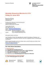 Newsletter Bauzentrum München Nr. 01/10 Freitag, 29. Januar 2010