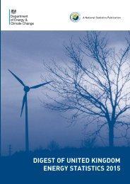 DIGEST OF UNITED KINGDOM ENERGY STATISTICS 2015
