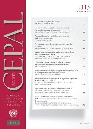 Revista CEPAL Nº113