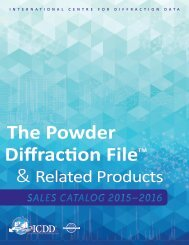 The Powder Diffraction File &