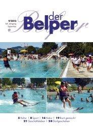 5 Kultur | 8 Sport | 16 Natur | 19 Bunt gemischt 21 ... - Der Belper