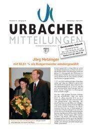 ziegler - Gemeinde Urbach