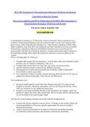 BUS 508 Assignment 2 Diversification Strategies (Wallmart and Kmart)/uophelp