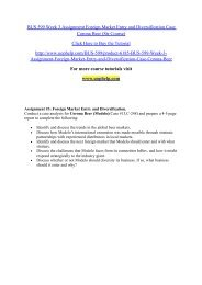 BUS 599 Week 3 Assignment Foreign Market Entry and Diversification Case Corona Beer (Str Course)/uophelp