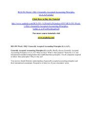BUS 591 Week 1 DQ 1 Generally Accepted Accounting Principles/uophelp