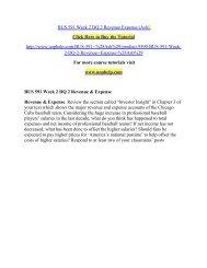 BUS 591 Week 2 DQ 2 Revenue Expense/uophelp