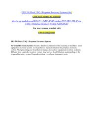 BUS 591 Week 3 DQ 1 Perpetual Inventory System/uophelp