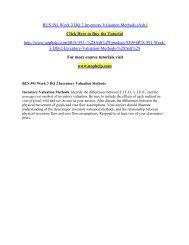 BUS 591 Week 3 DQ 2 Inventory Valuation Methods/uophelp