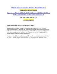 BUS 591 Week 6 DQ 1 Indirect Method vs/uophelp