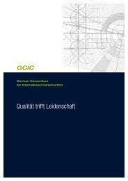 Qualität trifft Leidenschaft - GCIC German Consortium for ...