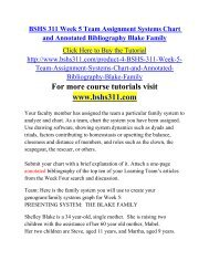 BSHS 311 Week 5 Team Assignment Systems Chart and Annotated Bibliography Blake Family