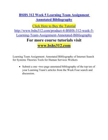 annotated bibliography assignment psychology Annotated bibliography assignment for the inquiry project dr rand the psychology side dealing with both health and science it also dealt with the.