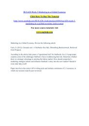 BUS 620 Week 5 Marketing in a Global Economy/uophelp