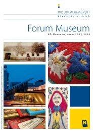 Forum Museum 2009-2 - Museumsmanagement Niederösterreich