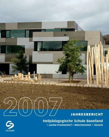 JAHRESBERICHT Heilpädagogische Schule Baselland
