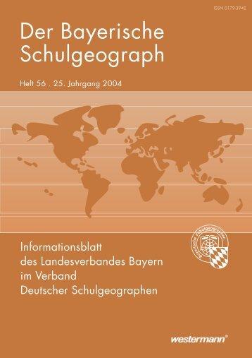Der Bayerische Schulgeograph - Verband Deutscher ...