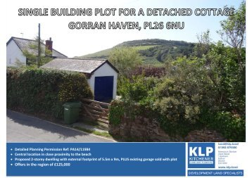 Single Building Plot - Gorran Haven, Cornwall