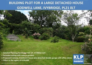 Single Building Plot - Ivybridge, Devon