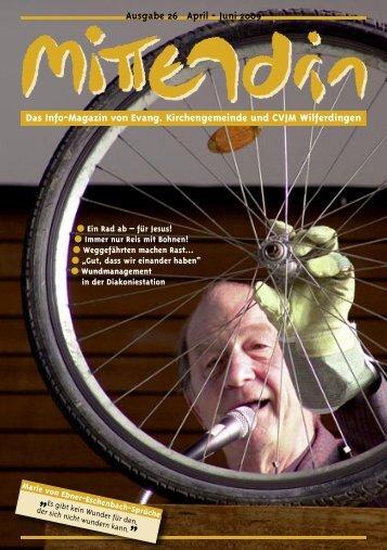 Ausgabe 26 April - Juni 2009 Das Info-Magazin von Evang ...