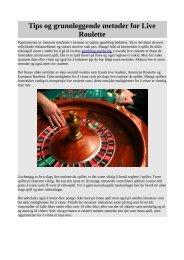 Tips og grunnleggende metoder for Live Roulette