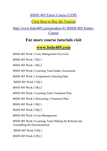 bshs405 r1 intake assessment form Bshs 405 week 2 learning team intake assessment (uop) click here to buy the tutorial.