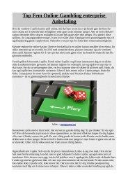 Top Fem Online Gambling enterprise Anbefaling