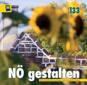 Mit Sonderteil: Architektur nÖ. ein kritischer dialog. - NÖ gestalten