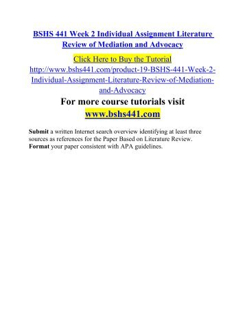 mediation and advocacy literature
