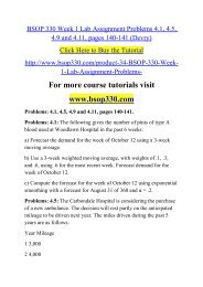 BSOP 330 Week 1 Lab Assignment Problems 4.1, 4.5, 4.9 and 4.11, pages 140-141 (Devry)