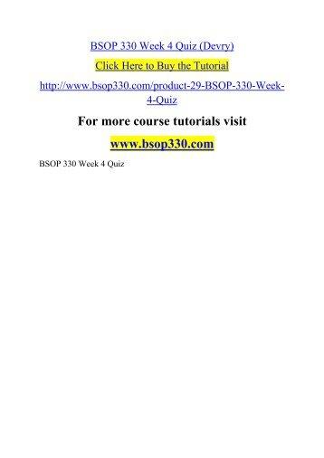 BSOP 330 Week 4 Quiz (Devry)
