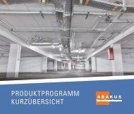 Abakus Produktprogramm - Kurzübersicht/Flyer