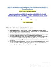 Individual assignment critical thinking application paper
