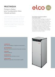 Brochure - ELCO Heating solutions