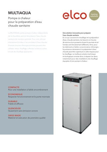 Brochure - ELCO Heating solutions