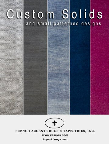 Custom solids and small patterned designs