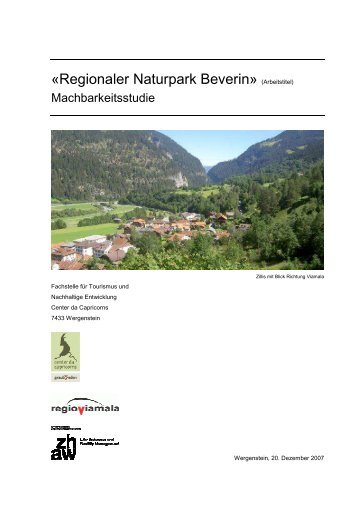 «Regionaler Naturpark Beverin» (Arbeitstitel)