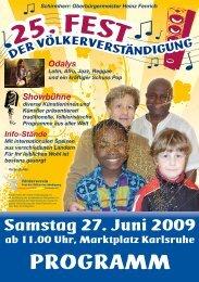 25. Fest der Völkerverständigung