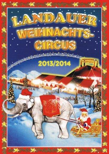 Landauer Weihnachtscircus - Programmheft 2013