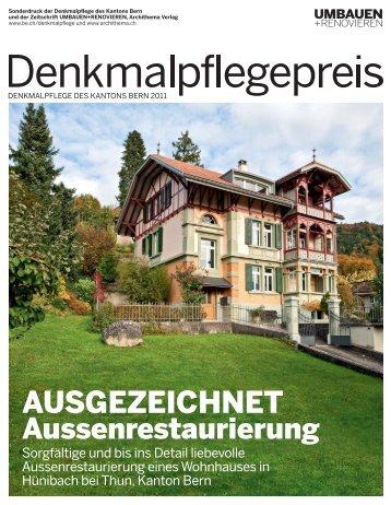 Denkmalpflegepreis 2011