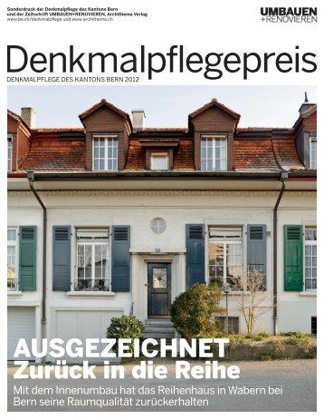 Denkmalpflegepreis 2012