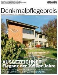 Denkmalpflegepreis 2014