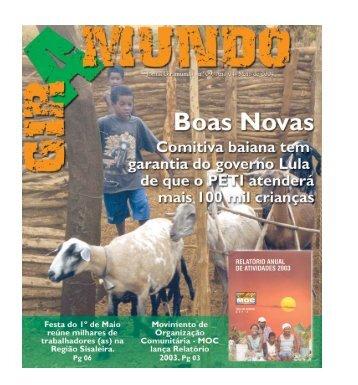 Jornal Giramundo - nº 09 - Ano 04 - Maio de 2004 - Boas Novas