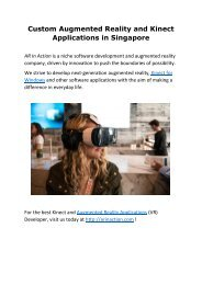 Custom Augmented Reality and Kinect Applications in Singapore