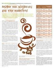 Μύθοι και αλήθειες για την καφείνη!