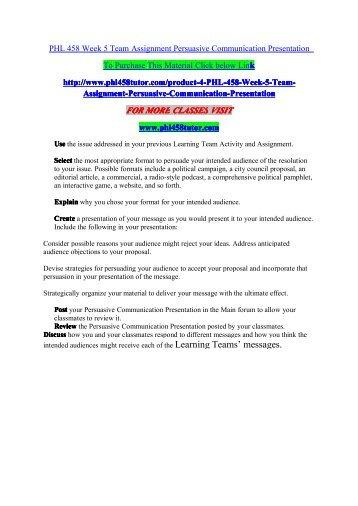 Communication strategies team assignment