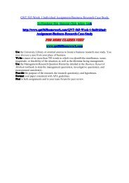 QNT 565 Week 1 Individual Assignment Business Research Case Study/QNT565homeworkdotcom