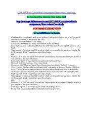 QNT 565 Week 3 Individual Assignment Observation Case Study/QNT565homeworkdotcom